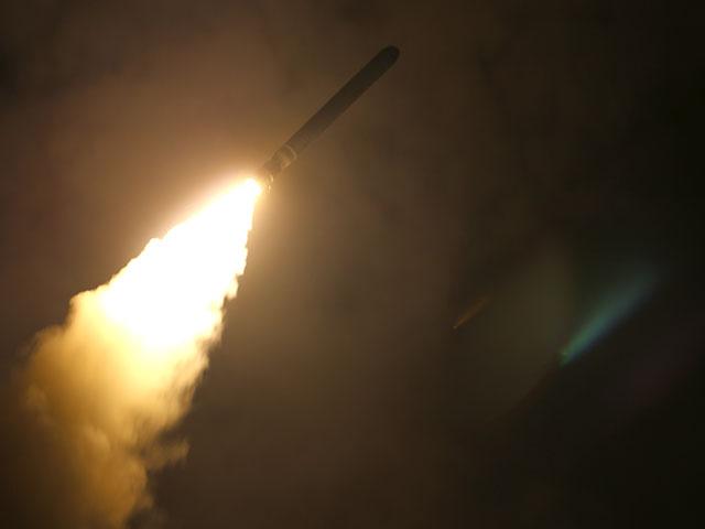 Запуск ракет по Сирии с USS Monterey (CG 61). 13 апреля 2018 года