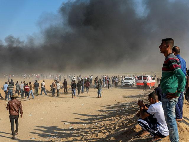 На границе сектора Газы. 15 мая 2018 года