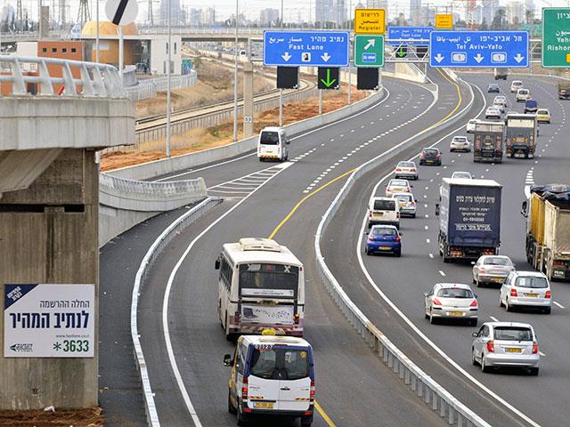 Утверждено расширение скоростного въезда в Тель-Авив со стороны аэропорта Бен-Гурион