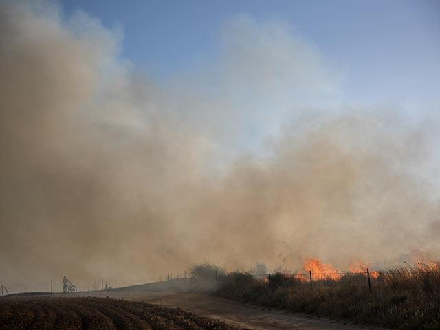 Поджоги на границе Газы: пожарные работают в пяти точках возгорания