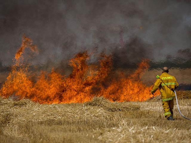Возгорание на границе Газы