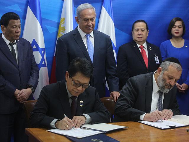 Израиль и Филиппины подписали соглашение о трудоустройстве работников по патронажному уходу