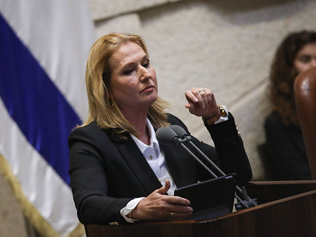 """Ципи Ливни в Кнессете: """"Израиль не может себе позволить еще одну каденцию Нетаниягу"""""""