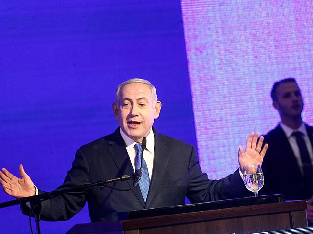 """На праздничном мероприятии """"Ликуда"""" Нетаниягу обрушился с критикой на полицию"""