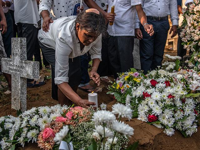 Похороны жертв теракта в Негомбо, 24 апреля 2019 года