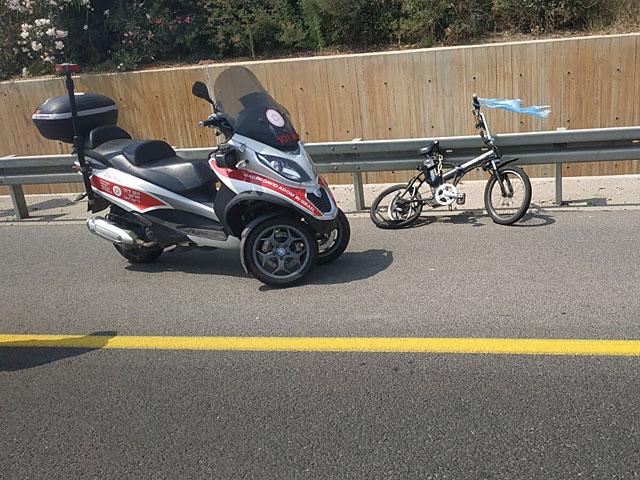 Около Петах-Тиквы автомобиль насмерть сбил велосипедиста