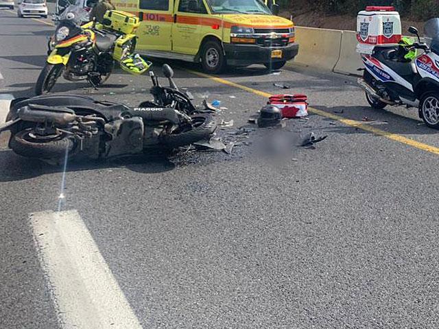 Авария в Тверии, погиб мотоциклист (иллюстрация)