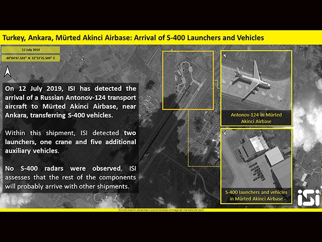 Со спутника запечатлены прибывшие в Турцию С-400. Снимки ImageSat