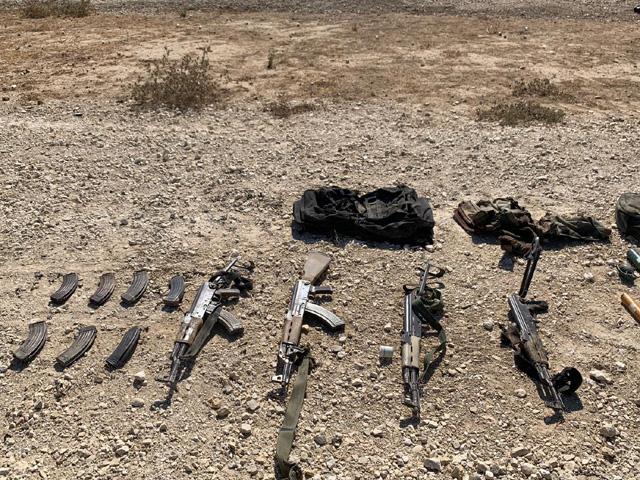 Оружие, найденное у боевиков