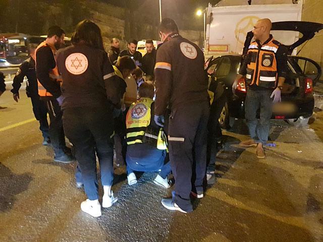 В ДТП возле иерусалимского квартала Рамот пострадали два человека