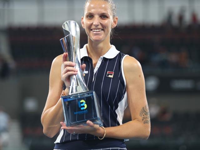 Теннис. Победительницей турнира в Брисбене стала Каролина Плишкова