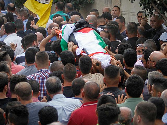 Похороны Айши ар-Раби в Бидии, 13 октября 2018 года
