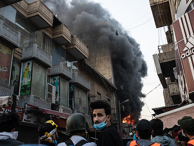 """В Наджафе сожжена штаб-квартира """"Катаиб Хизбалла"""""""