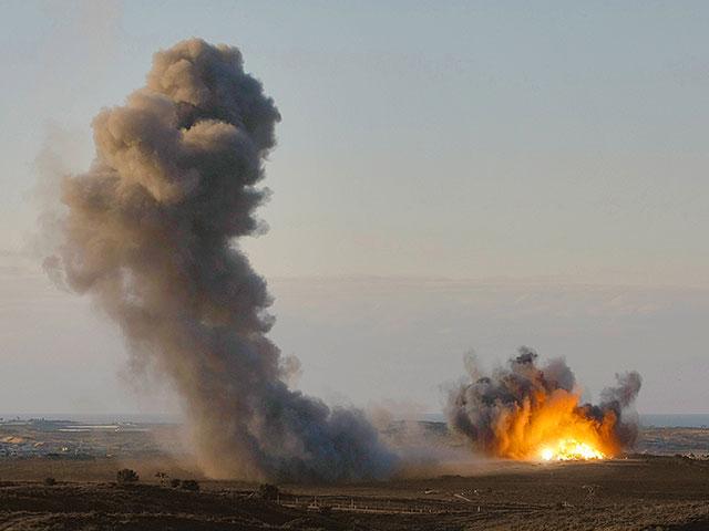 Источник: израильские ВВС атаковали туннель террористов на египетской территории, около границы с Газой