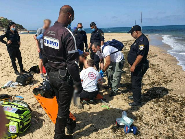 В Тель-Авиве женщина пострадала при купании в море