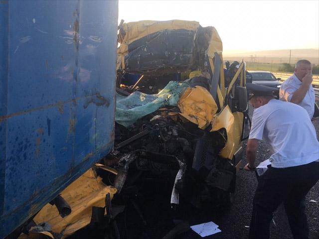 В результате тяжелой аварии в Крыму погибли не менее девяти человек