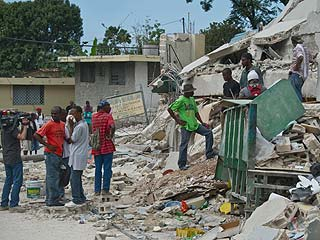 haiti photo essay earthquake This photo provided by carel pedre shows people running past rubble of a damaged building in port-au-prince, haiti, tuesday, jan 12, 2010 the largest earthquake ever recorded in the area shook.