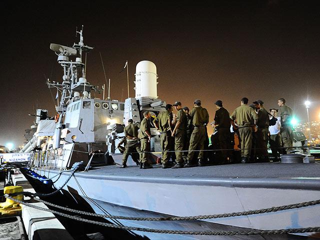 """Израильский флот готовится к блокированию  движения флотилии """"Free Gaza"""". 29 мая 2010 года"""