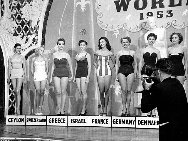 """Израиль участвовал уже в первом конкурсе """"Мисс Вселенная 1953""""; в Калифорнию тогда отправилась Ора Веред"""