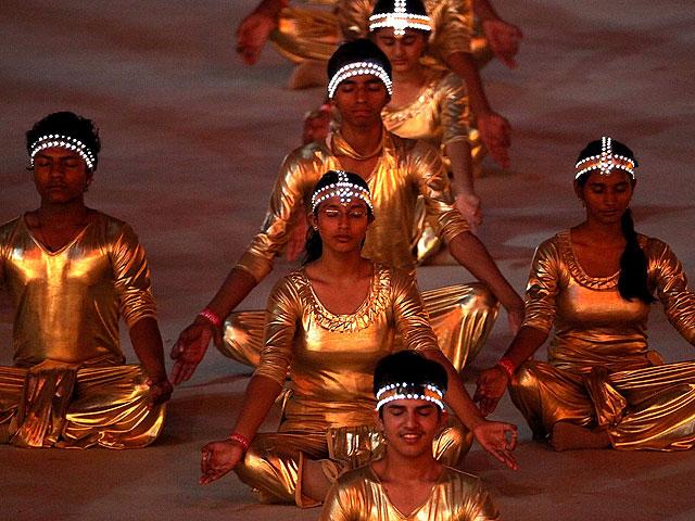 Фестиваль йоги в Дели. Октябрь 2010 года