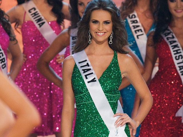 """""""Мисс Италия"""" Клаудия Феррарис на конкурсе """"Мисс Вселенная 2008"""""""