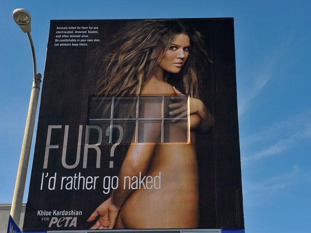 Хлоя Кардашьян в рекламе PETA