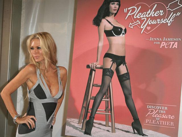 Порнозвезда Дженна Джеймсон в рекламе PETA