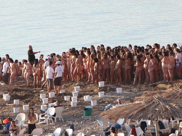 Съемки проекта Спенсера Туника на Мертвом море. 17 сентября 2011 года
