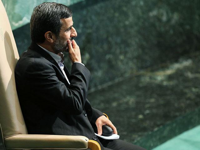 Махмуд Ахмадинеджад на 67-й сессии Генассамблеи ООН. Нью-Йорк, сентябрь 2012 года