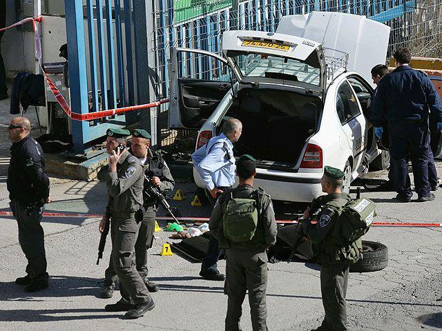 Место происшествия в Джабль Мукабр (Восточный Иерусалим) 23 декабря 2012 года