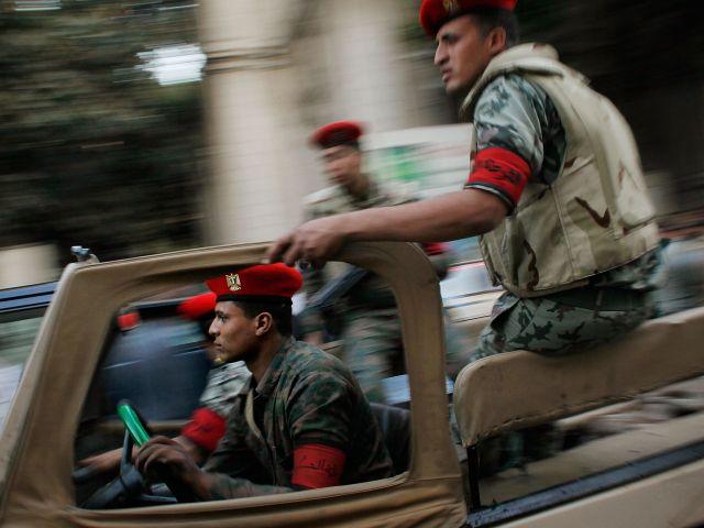 Сотрудники египетских сил безопасности