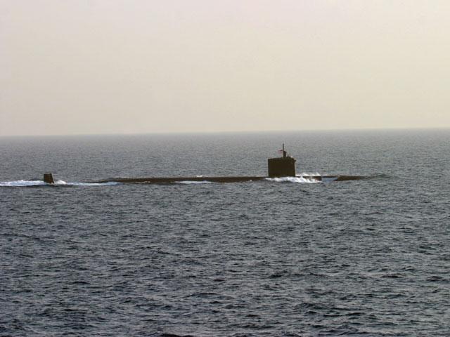 Американская подлодка в Ормузском проливе
