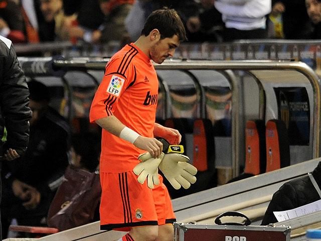"""Вратарь """"Реала"""" сломал руку в матче против """"Валенсии"""""""