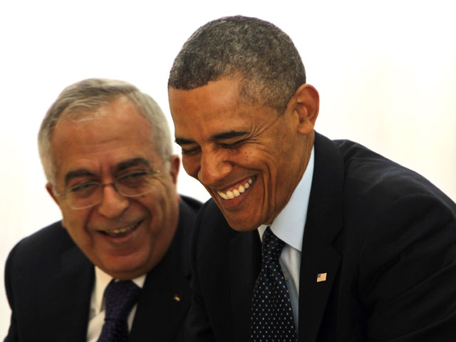 Салам Файяд и Барак Обама. Рамалла, 21 марта 2013 года