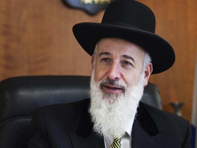 Главный ашкеназский раввин Израиля Йона Мецгер