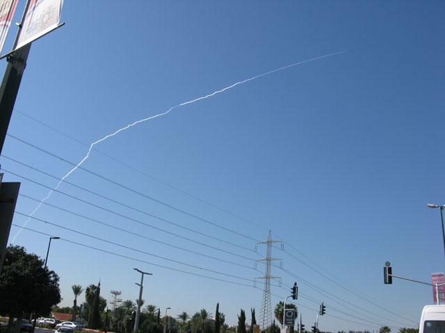 """El sistema de pruebas de misiles basado en el """"Palmachim.""""  02 de noviembre 2011"""
