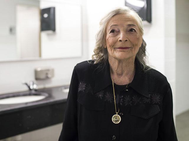 Шошана Колмер на конкурсе красоты среди женщин, переживших Холокост. Хайфа, 22 августа 2013 года