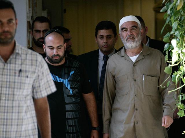Шейх Раад Салах в суде. Иерусалим, 3 сентября 2013 года