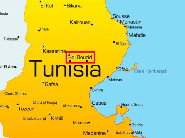 Вооруженное столкновение произошло в провинции Сиди Бузид, в центре страны.