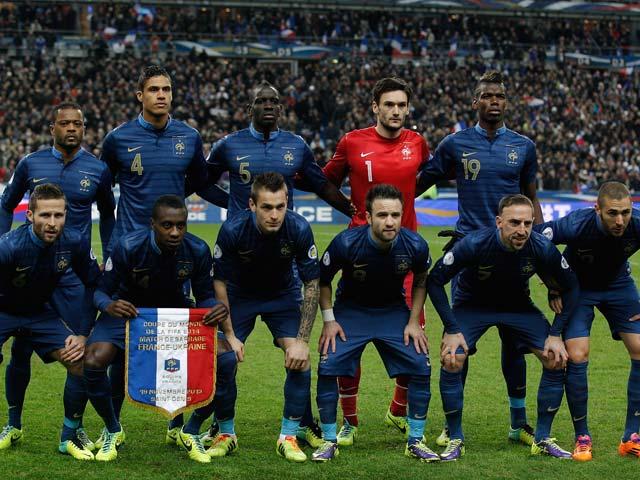 Сборная Франции 19 ноября 2013 года. Париж