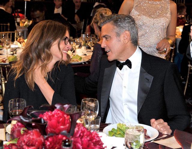Джордж Клуни и Джулия Робертс в ноябре 2013 года