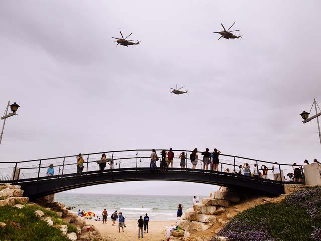Парад ВВС ЦАХАЛа. Тель-Авив, 6 мая 2014 года