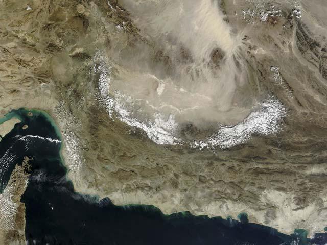 Спутниковая фотография территории Ирана