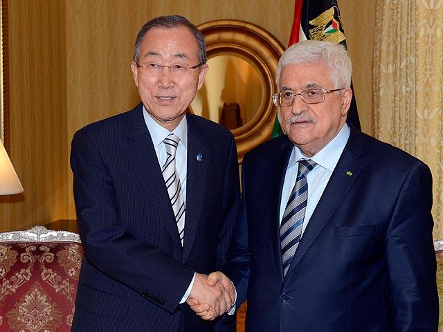 Пан Ги Мун и Махмуд Аббас в Катаре. 20 Июля 2014 года