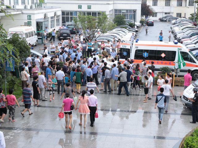 Завод в Куньшане, где прогремел взрыв. 02.08.2014
