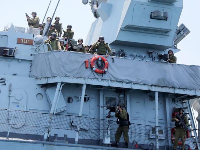 """ВМС ЦАХАЛа около побережья Газы в период проведения операции """"Нерушимая скала"""". Лето 2014 года"""