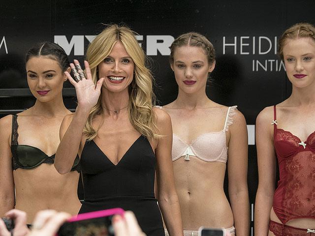 Хайди Клум на презентации в Мельбурне, 27 января 2015 года