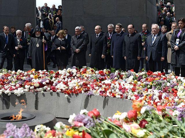 Церемония памяти жертв геноцида армян. 24.04.2015