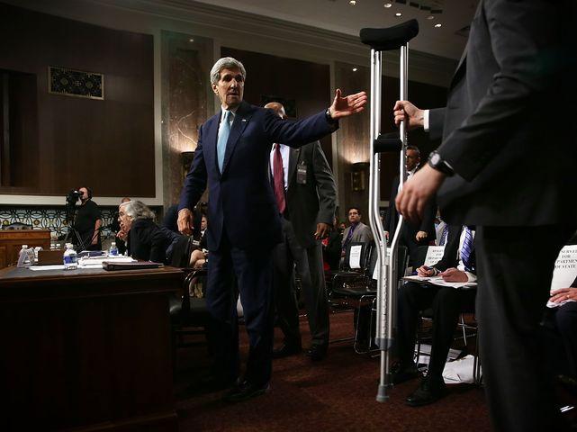 Госсекретарь Джон Керри на заседании комитета Сената. 23.07.2015