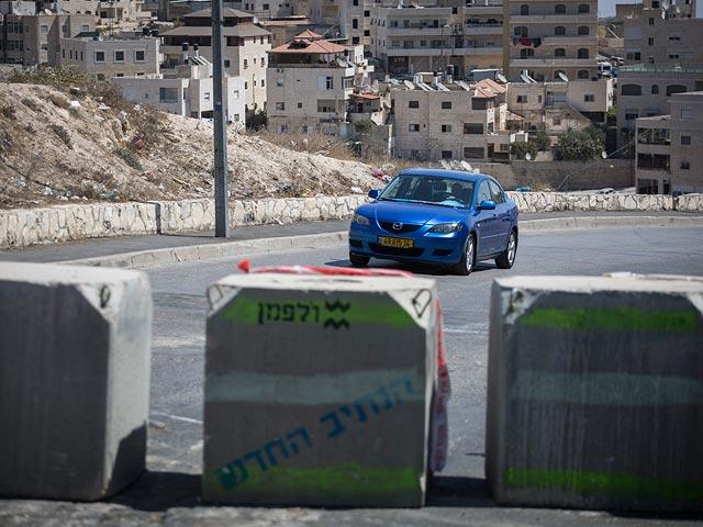 На въезде в арабский квартал Иерусалима вновь установлено бетонное заграждение